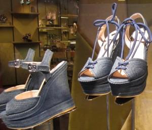 Scout by Bungalow denim platform shoes