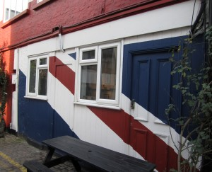 Scout by Bungalow red white blue Union Jack symbol