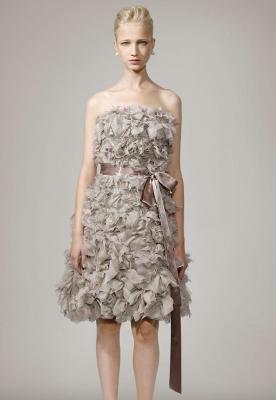 party dress with floral cutouts