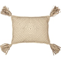 pillow with tassles