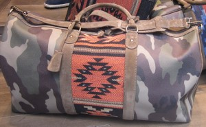 scout by bungalow camouflage indian symbol duffle bag