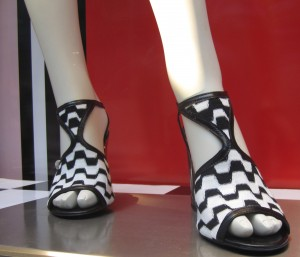 scout by bungalow missoni heels white and black