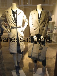 trench coat and jacket in khaki colors