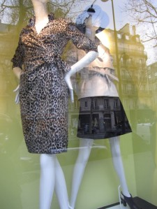 leopard print shirtdress