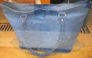 scout by bungalow beaded blue tote with braided handles