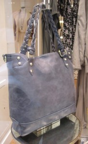 scout by bungalow blue tote with twisted handles