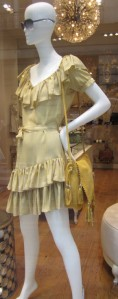 Scout by Bungalow yellow sun dress and saddle bag