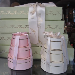 Scout by Bungalow pastel green pink creme pastry box