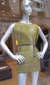 dress with brown belt