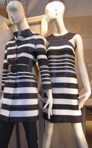 black and white coatdress and dress
