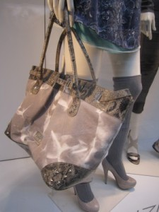 scout by bungalow tie-dye and snakeskin tote
