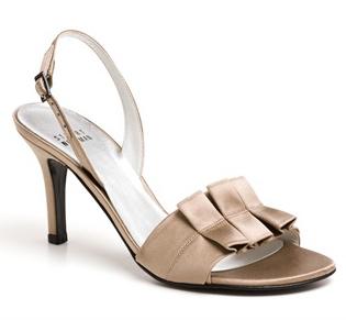 beige metallic heel
