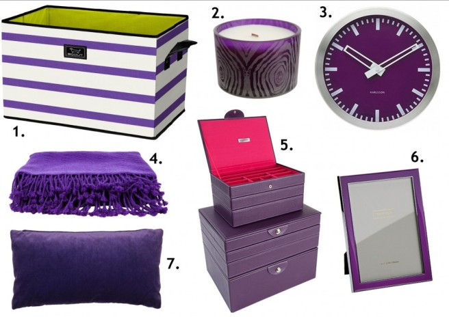 purple pieces for the home