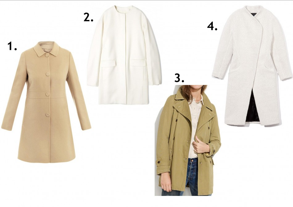 light and white coats in stores
