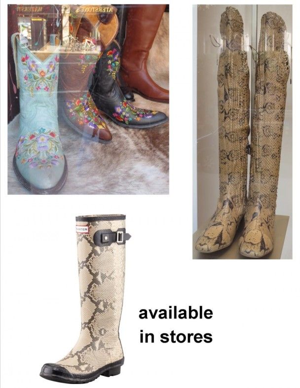 decorative boots