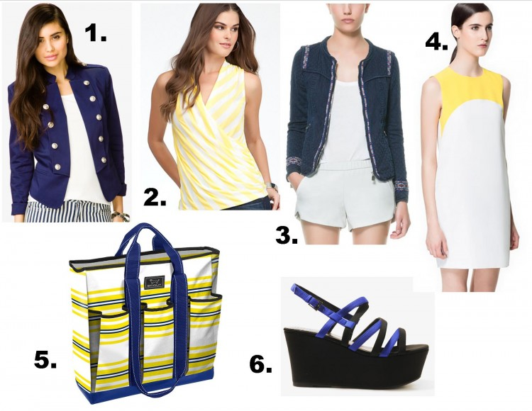 Affordable navy and yellow