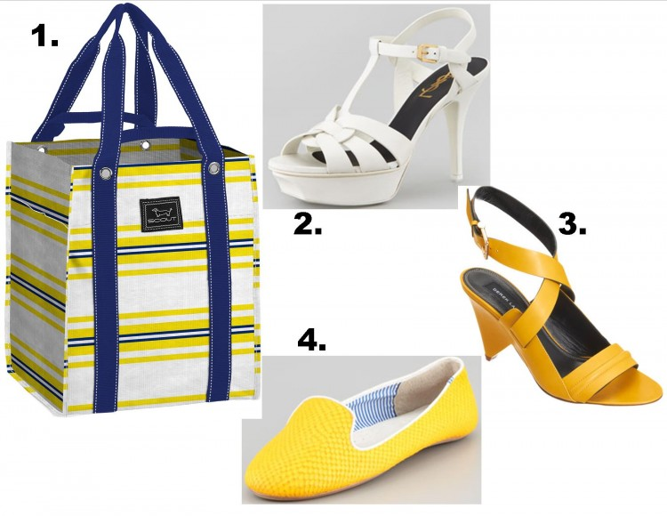 bagette for shoes yellow and white