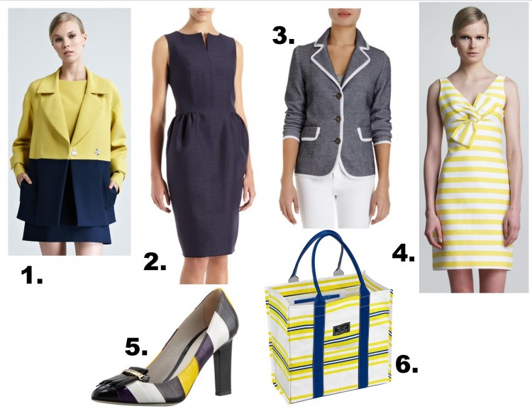 luxury navy and yellow