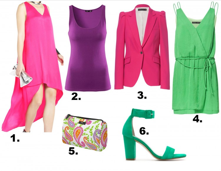 affordable purple green pink