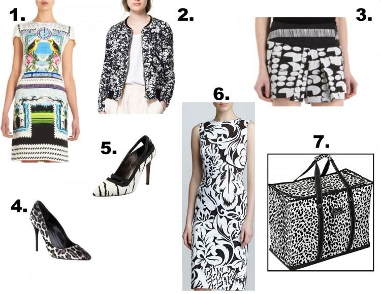 black and white contemporary fashion