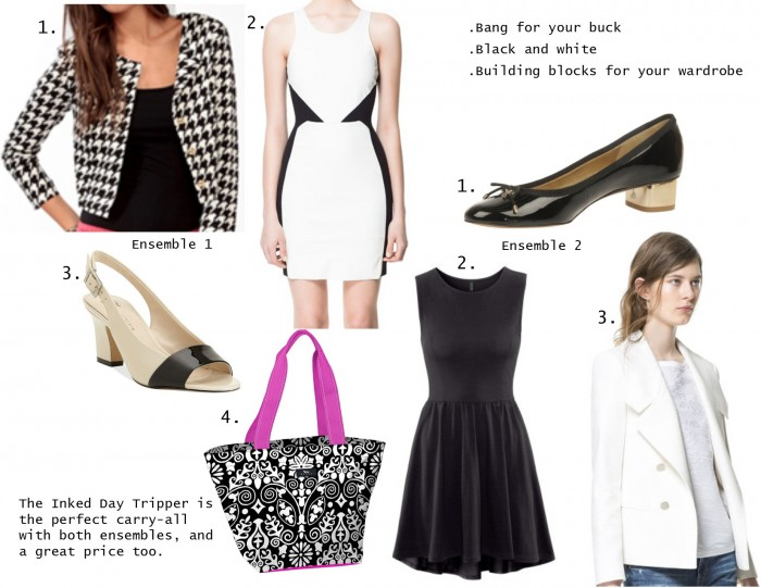 black and white internship ensemble