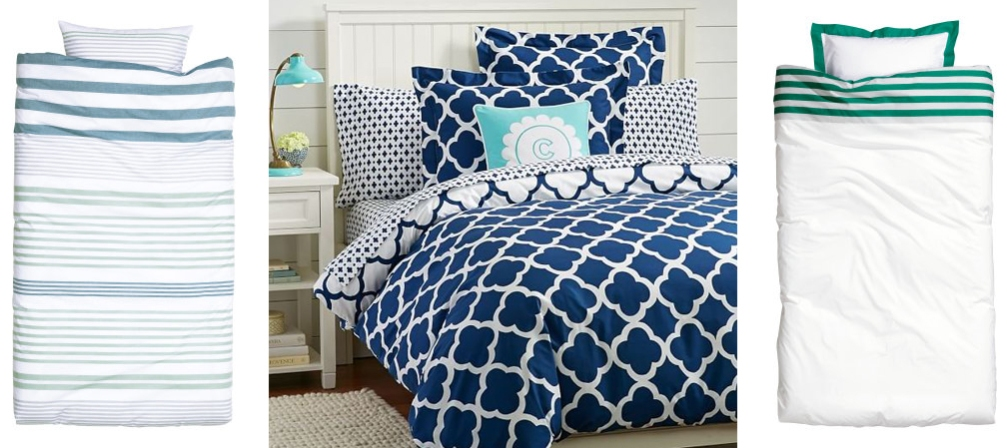 shades of blue bedding