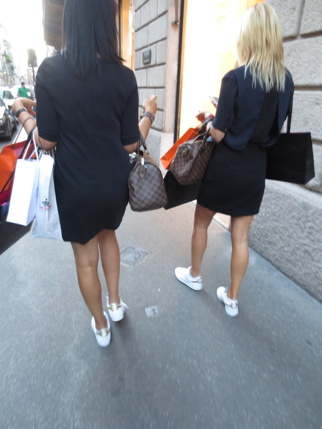 2 white adidas